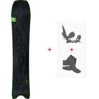 Splitboard Amplid Millisurf Split 2020 + Fixations de splitboard + PeauxA.190107