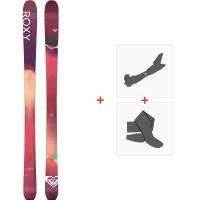 Ski Roxy Shima 98 2020 + Fixations de ski randonnée + PeauxRXSK20-SH98-FT