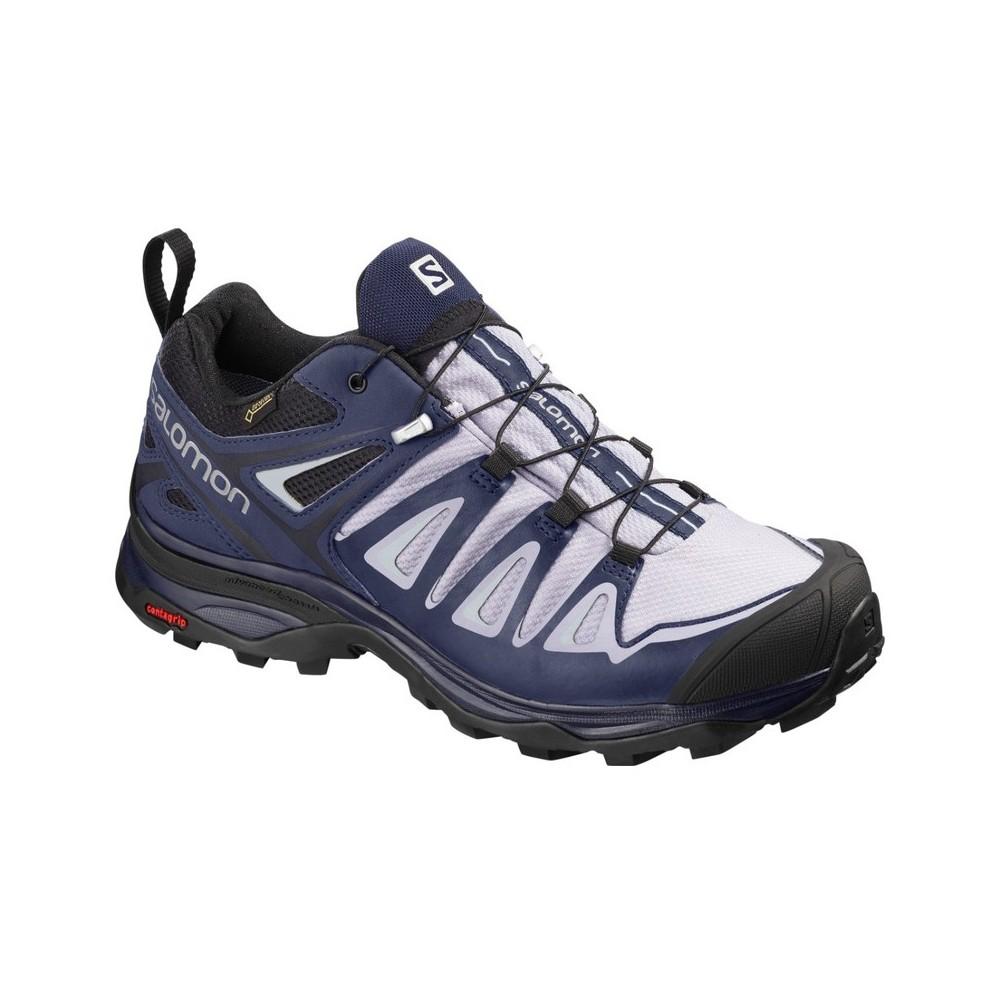 Salomon X Ultra 3 GTX Chaussures de randonnée Femme, languid lavendercrown bluenavy blue