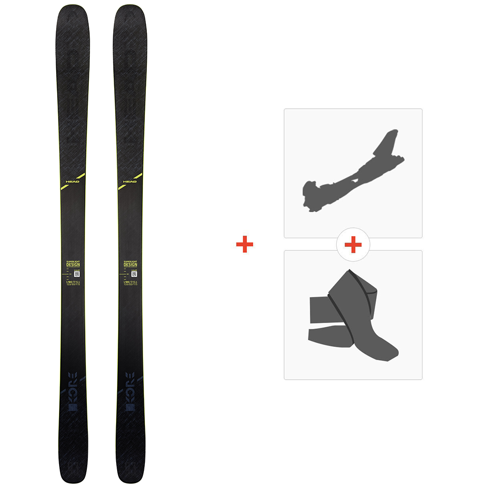 Ski Head Kore 93 Grey 2020 + Fixations de ski randonnée + Peaux315449