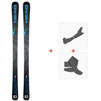 Ski Head Monster 83 Ti Sw 2020 + Fixations de ski randonnée + Peaux315169
