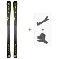 Ski Head Monster 83 X Sw 2020 + Fixations de ski randonnée + Peaux315179