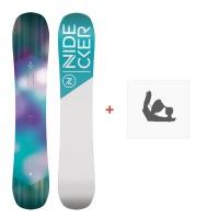 Snowboard Nidecker Angel 2020 + Fixations de snowboardSN200220