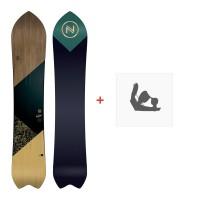 Snowboard Nidecker Mellow 2020 + Fixations de snowboardSN200125