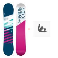 Snowboard Nidecker Micron Flake 2020 + Fixations de snowboardSN200261