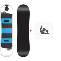 Snowboard Nidecker Micron Snowday 2020 + Fixations de snowboardSN190257