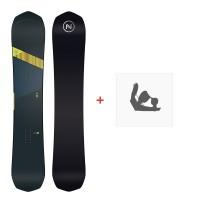 Snowboard Nidecker Rave 2020 + Fixations de snowboardSN200130