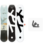 Snowboard Yes  Hybrid 2020 + Fixations de snowboard