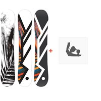Snowboard Hel Yes. 2020 + Fixations de snowboard