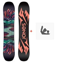 Jones Snowboard Twin Sister 2020 + Snowboard BindungenSJ200254