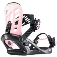 Fixation Snowboard K2 KAT Black Pink M 2020