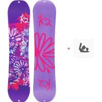 Snowboard K2 Lil Kat 2020 + Fixations de snowboard11D0031.1.1