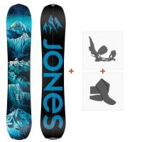 Splitboards Jones Frontier Split 2020 + Fixations de Splitboard + Peaux