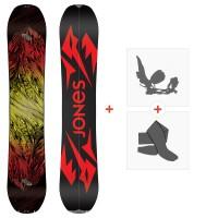 Splitboards Jones Mountain Twin 2020 + Fixations de Splitboard + Peaux