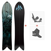 Jones Splitboards Storm Chaser 2020 + Fixations de Splitboard + PeauxSJ200235