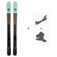 Ski Volkl Secret 102 2020 + Fixations de ski randonnée + Peaux119412