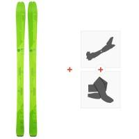 Ski Elan Ibex 84 Carbon 2020 + Fixations de ski randonnée + PeauxADMEUN19