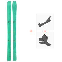 Ski Elan Ibex 84 W Carbon 2020 + Fixations de ski randonnée + PeauxADMFJH19