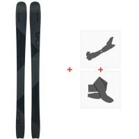 Ski Elan Ripstick 106 Black Edition 2020 + Fixations de ski randonnée + PeauxADAFJN19