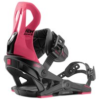 Fixation Snowboard Now Brigada Black/Pink 2020