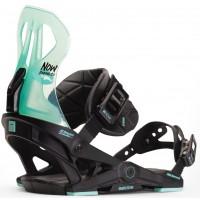Fixation Snowboard Now Brigada Black/Turquoise 2020