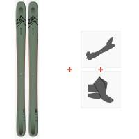 Salomon N Qst 106 OIL Green/Orang 2020 + Fixations de ski randonnée + Peaux