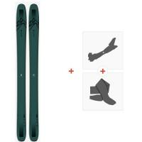 Salomon N QST 118 Dark Grey 2020 + Fixations de ski randonnée + Peaux