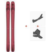 Salomon N Qst Stella 106 Pink/Black 2020 + Fixations de ski randonnée + Peaux