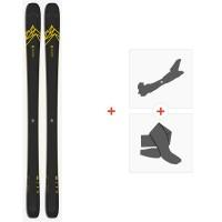 Salomon N Qst 92 Dark Blue/Yellow 2020 + Fixations de ski randonnée + Peaux