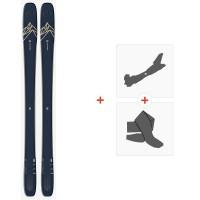 Salomon N Qst 99 Dark Blue 2020 + Fixations de ski randonnée + Peaux