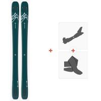 Salomon N Qst Lux 92 Blue Green/Light Blue 2020 + Fixations de ski randonnée + Peaux