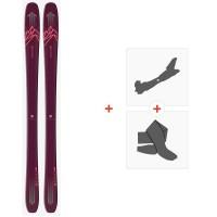 Salomon N Qst Myriad 85 Purple/Pink 2020 + Fixations de ski randonnée + Peaux