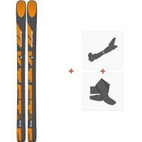 Ski Kastle FX96 HP 2020 + Fixations de ski randonnée + PeauxAF96H19