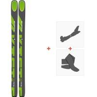 Ski Kastle FX106 HP 2020 + Fixations de ski randonnée + PeauxAF106H19