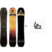 Snowboard Arbor Bryan Iguchi Pro Rocker 2020 + Fixations de snowboard12022F19