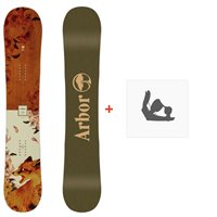 Snowboard Arbor Cadence Camber 2020 + Fixations de snowboard12029F19