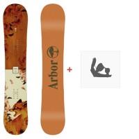 Snowboard Arbor Cadence Rocker 2020 + Fixations de snowboard12028F19