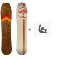 Snowboard Arbor Cask 2020 + Fixations de snowboard12025F19
