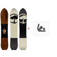 Snowboard Arbor Clovis 2020 + Fixations de snowboard11921F18