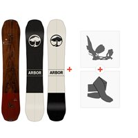 Splitboard Arbor Coda Split 2020 + Fixations de splitboard + Peaux12033F19