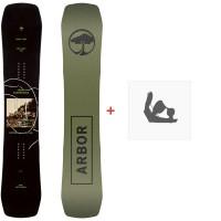 Snowboard Arbor Draft 2020 + Fixations de snowboard12001F19
