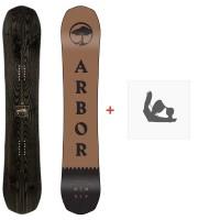 Snowboard Arbor Element 2020 + Fixations de snowboard12010F19-1