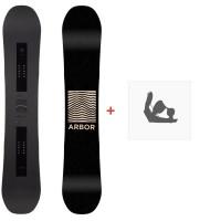 Snowboard Arbor Formula Rocker 2020 + Fixations de snowboard12008F19