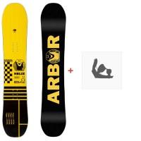 Snowboard Arbor Helix 2020 + Fixations de snowboard12006F19