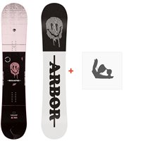 Snowboard Arbor Relapse 2020 + Fixations de snowboard12002F19