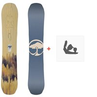Snowboard Arbor Swoon Camber 2020 + Fixations de snowboard12031F19