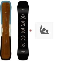 Snowboard Arbor Westmark Camber 2020 + Fixations de snowboard12004F19