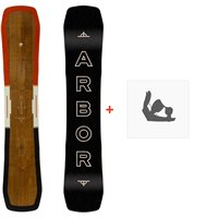 Snowboard Arbor Westmark Rocker 2020 + Fixations de snowboard12003F19