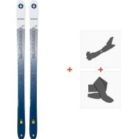 Ski Blizzard Zero G 085 W 2020 + Fixations de ski randonnée + Peaux8A914400.002