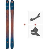 Ski Blizzard Zero G 105 2020 + Fixations de ski randonnée + Peaux8A914000.001